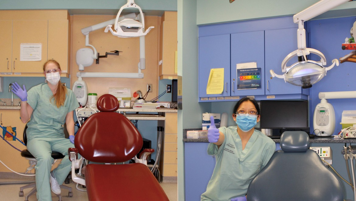 My dentist has to wear a mask, gloves and glasses to get ready to look at my teeth.